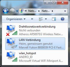 LAN-Einstellungen